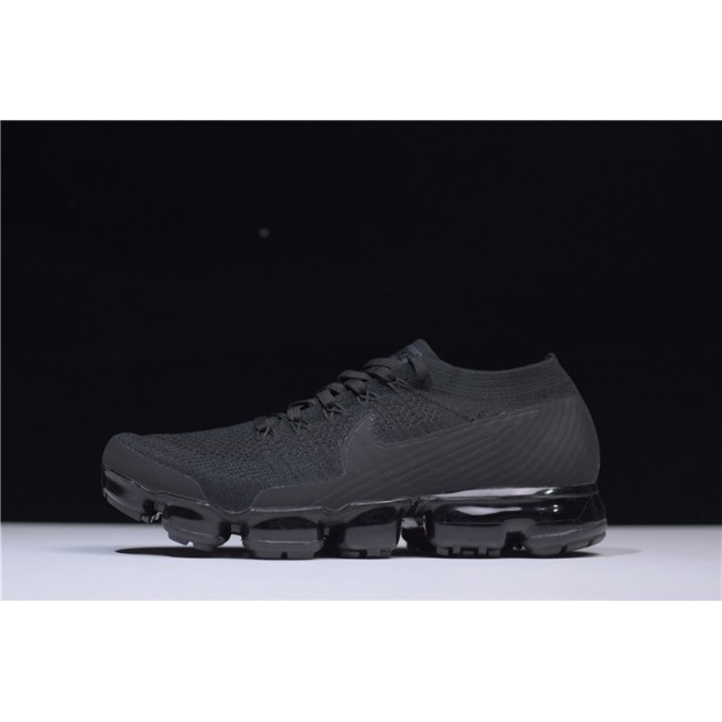 Mens Nike Air Vapormax Flyknit Triple Black Black-Anthracite-White