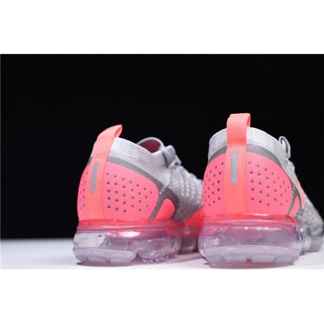 Womens Nike Air VaporMax Flyknit 2 Atmosphere Grey Crimson Pulse