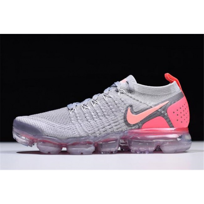 Womens Nike Air VaporMax Flyknit 2 Atmosphere Grey Crimson Pulse